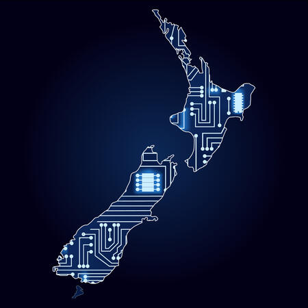 NZ overlayed with a circuit board graphic