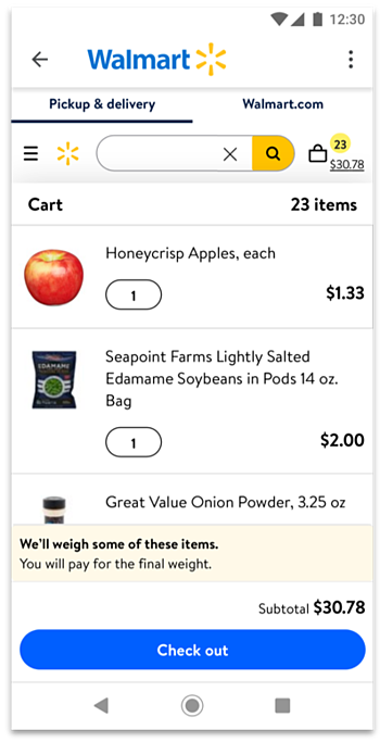 Grocery Order Flow Step 4-2