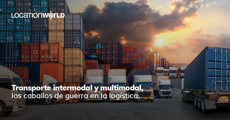 El transporte intermodal y multimodal como caballos de guerra en la logística