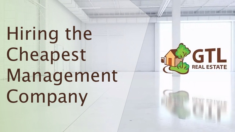 Hiring the Cheapest Management Company
