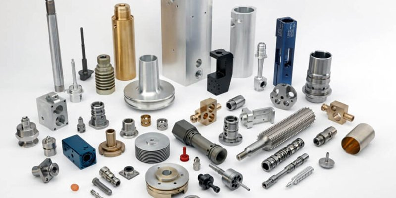 cnc machined parts with different materials