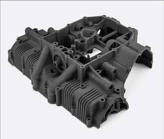 3D printed component in Nylon PA12 + Carbon