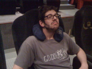 Lazy boy + neck pillow = awesome movie experience