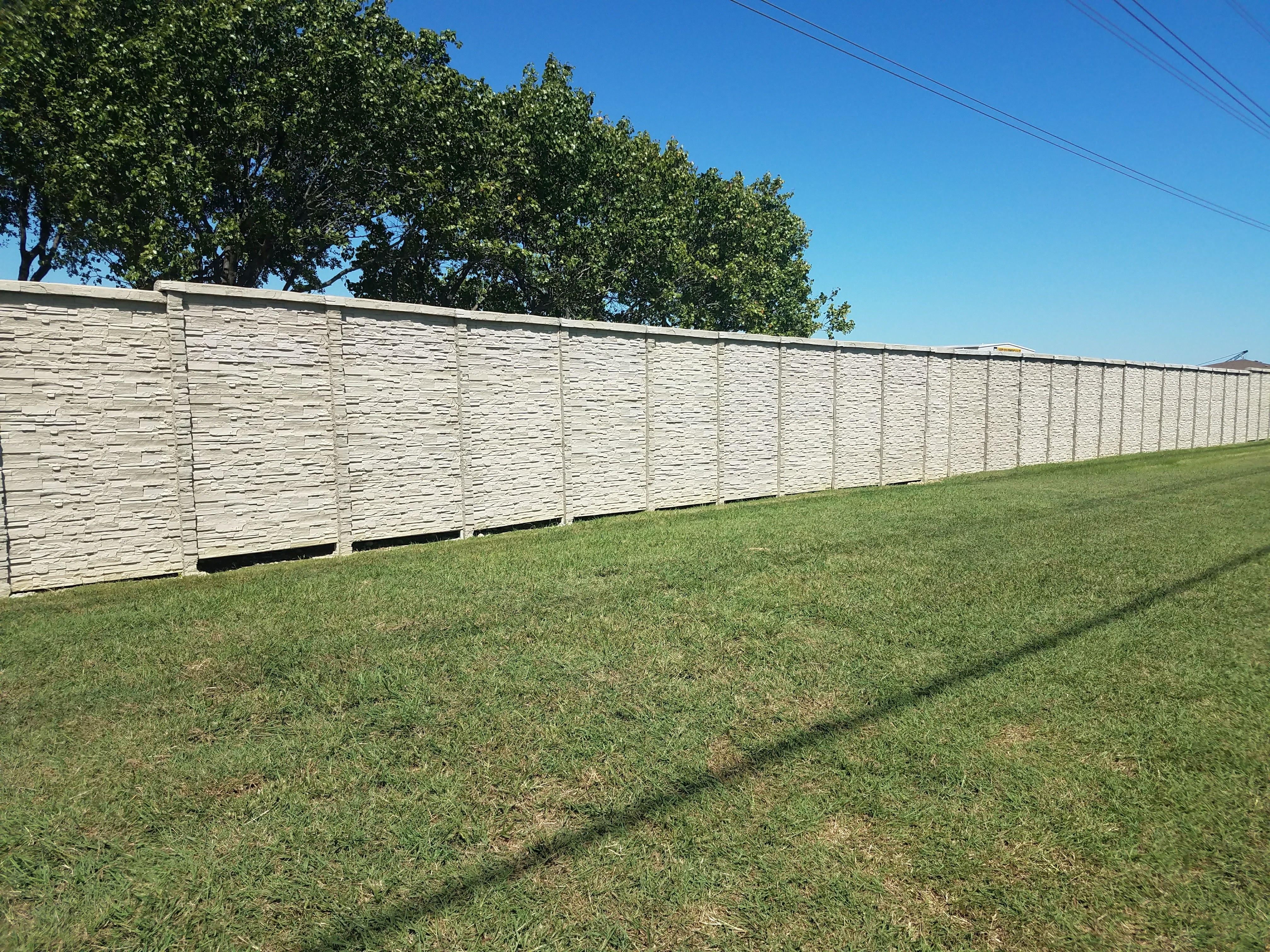 precast concrete screening wall dallas texas