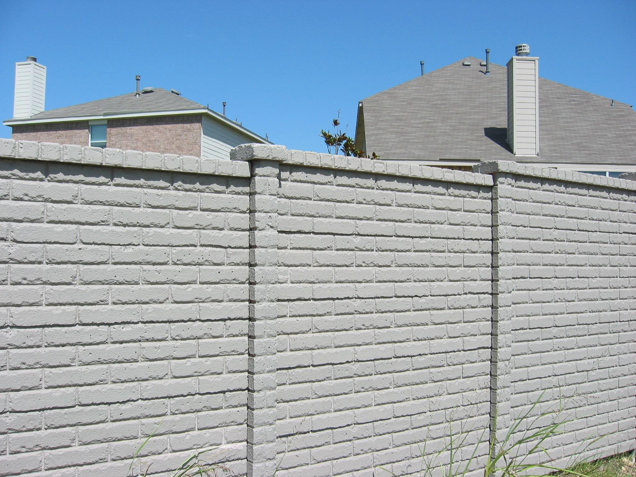 OldBrick Concrete Fence Austin, TX