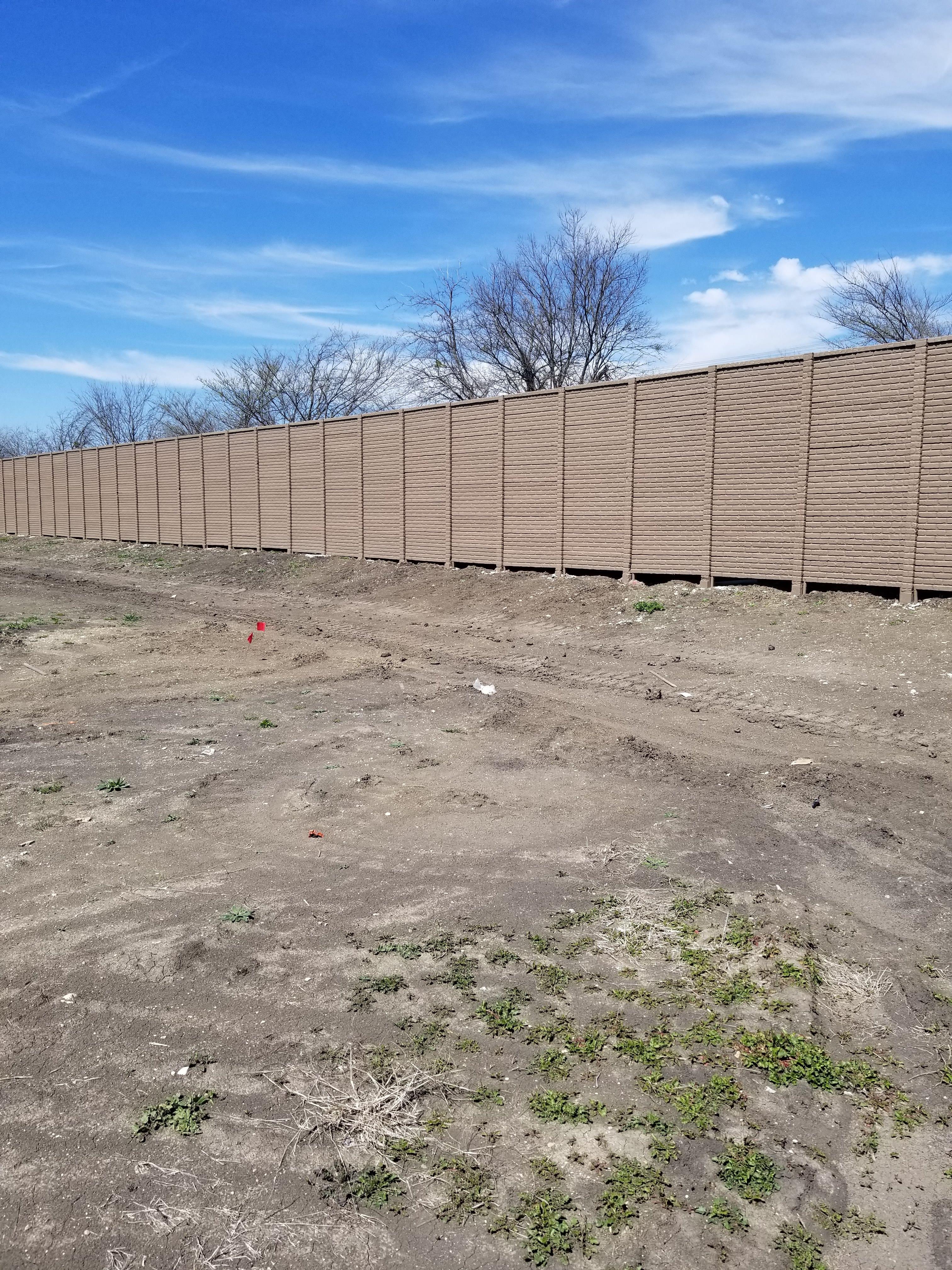 OldBrick Precast Fence - Fort Worth, TX 1
