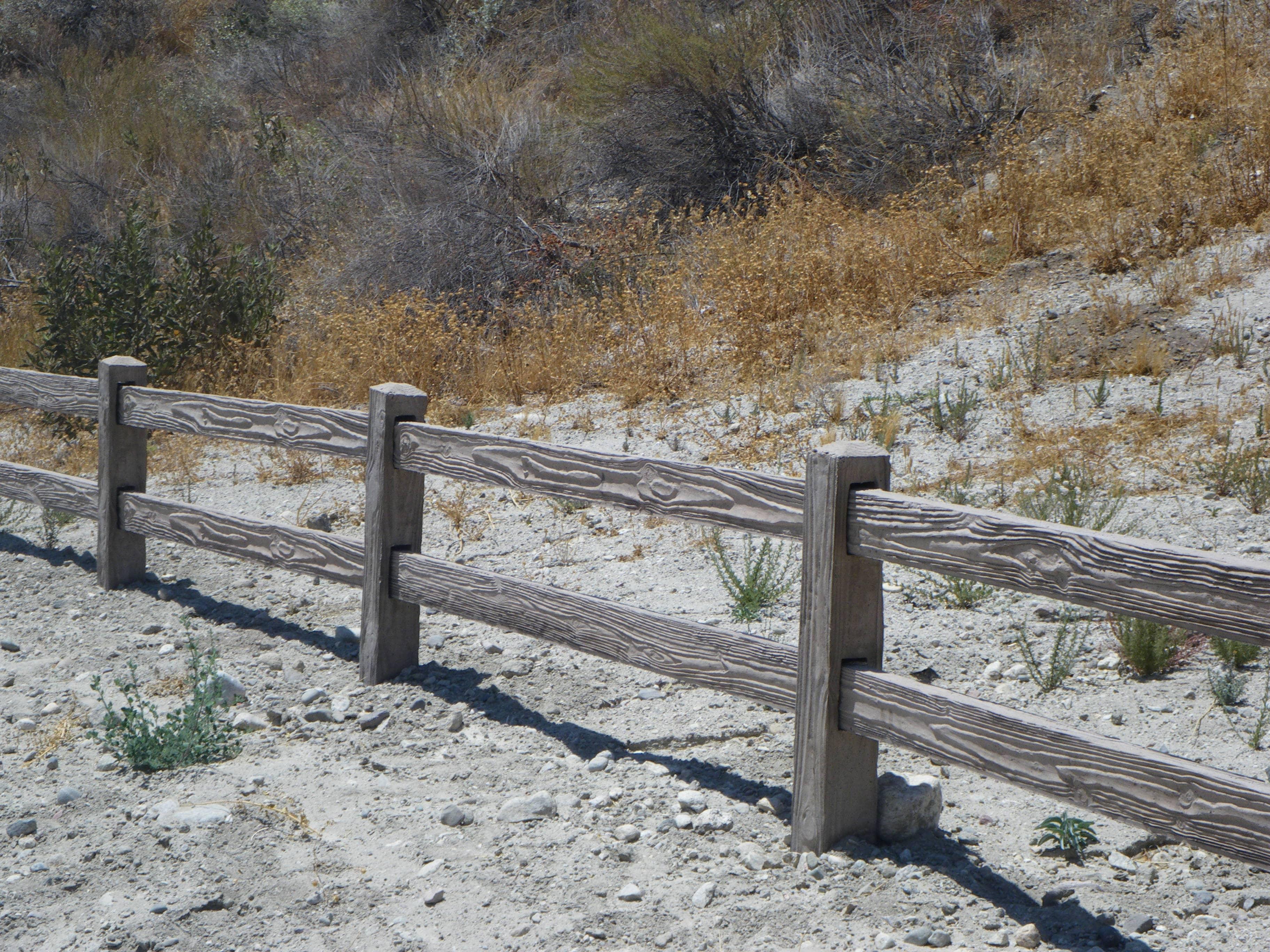 Concrete 2-Rail Fence