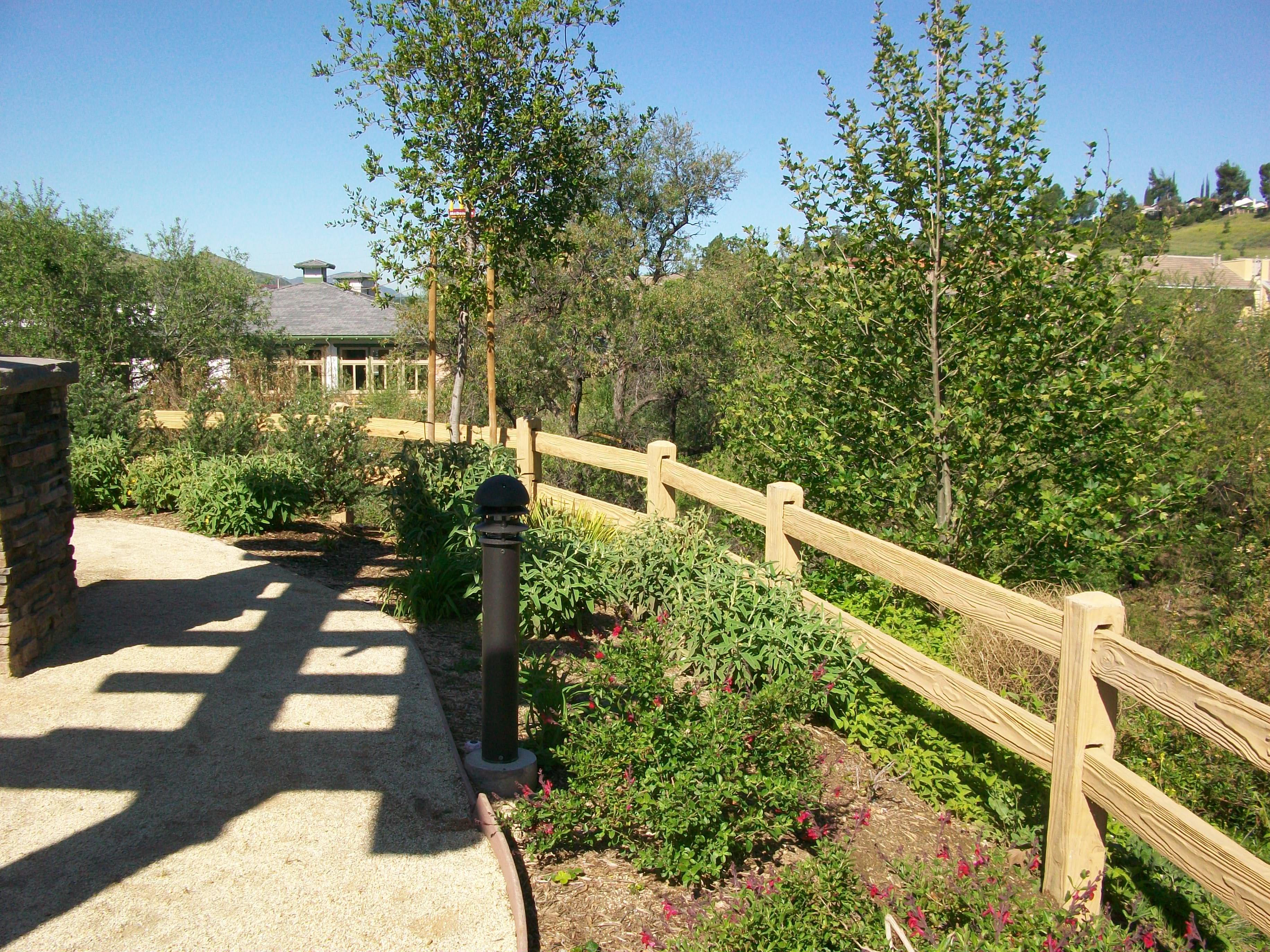 precast rail fence