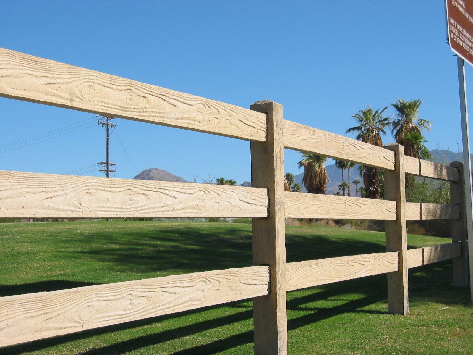 RanchRail Concrete Fence TX