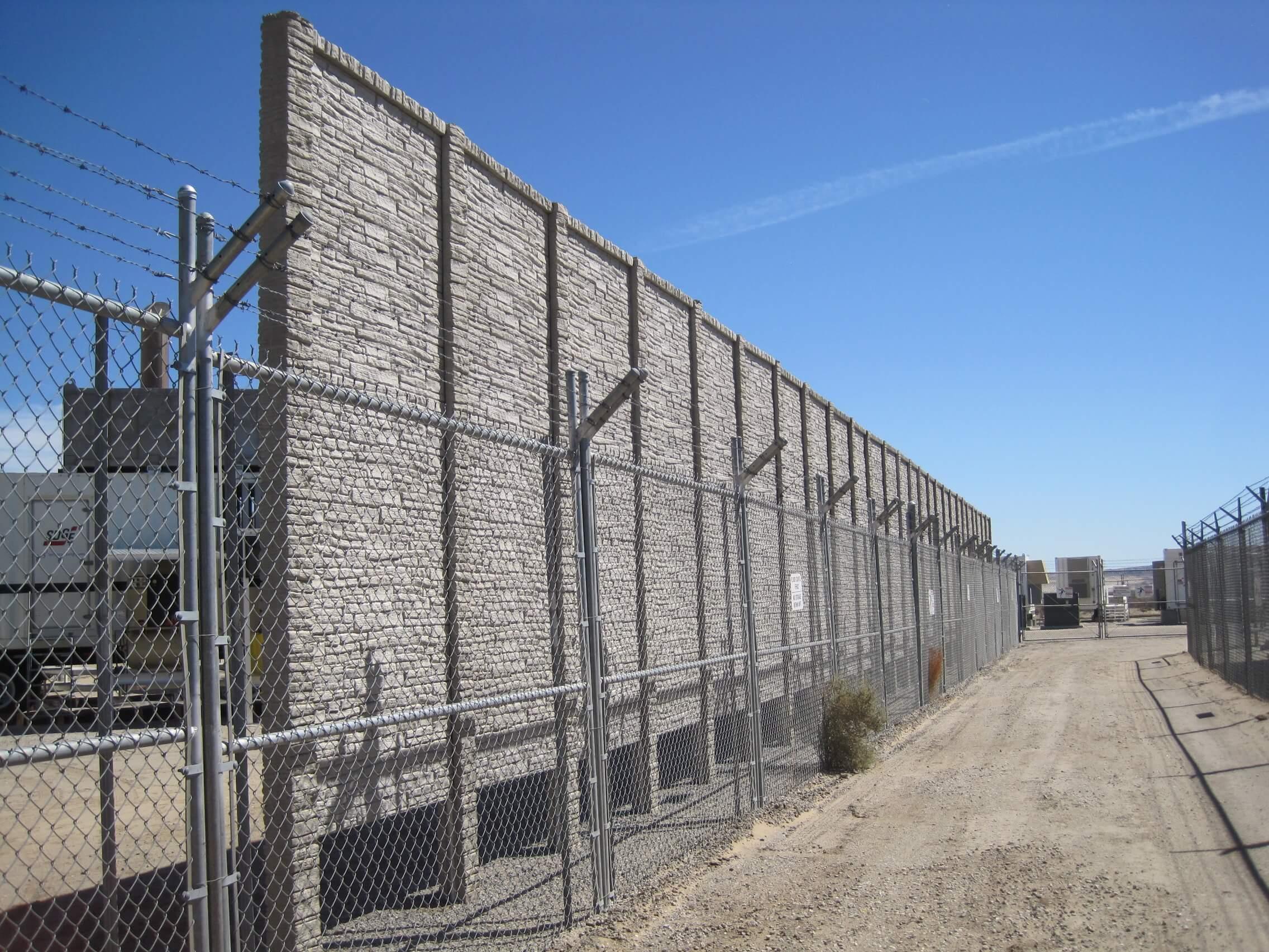 concrete fence utility enclosure