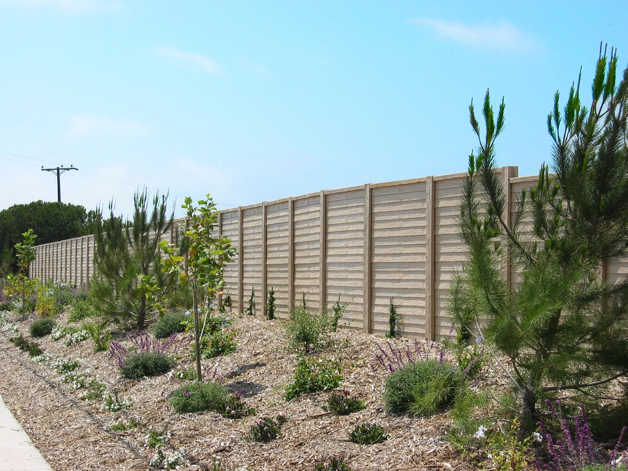 Precast Concrete Fence WoodCast Texas
