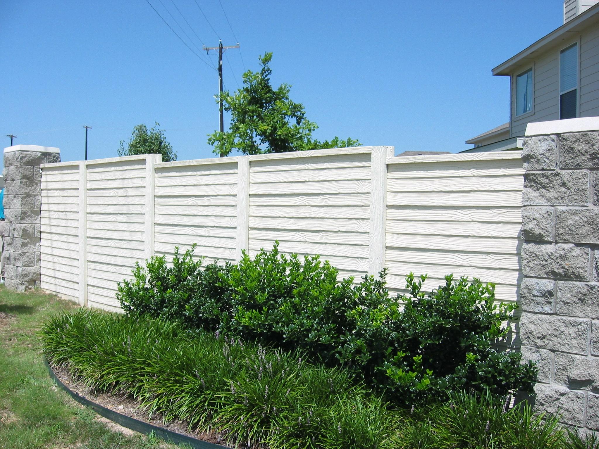 Residential Precast Concrete Fence