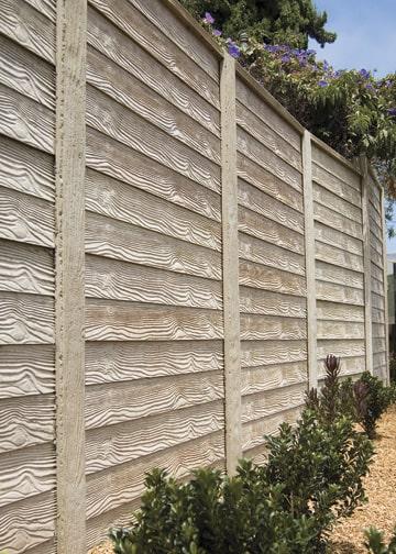 WoodCast Precast Fence