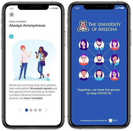Covid Watch Arizona - App Screens 01