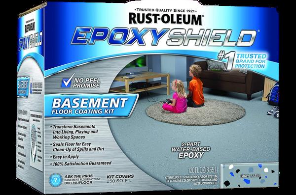 Rust-Oleum® EPOXYSHIELD® Basement Floor Coating Kit