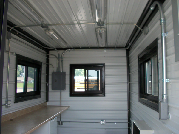containerized office trailer, office trailer, shipping container office