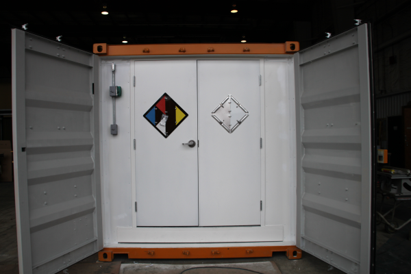 modular chemical storage, portable chemical storage, containerized chemical storage