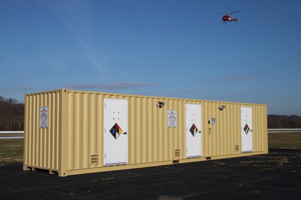 hazardous chemical storage, modular hazardous chemical storage, hazardous chemical storage in a shipping container