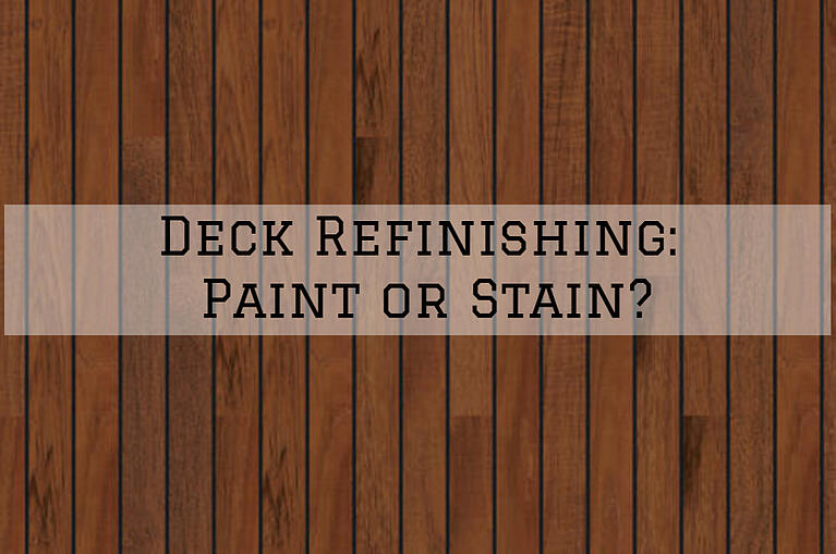 Deck Refinishing Omaha, NE: Paint or Stain?