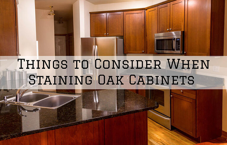Things to Consider When Staining Oak Cabinets in Omaha, NE.