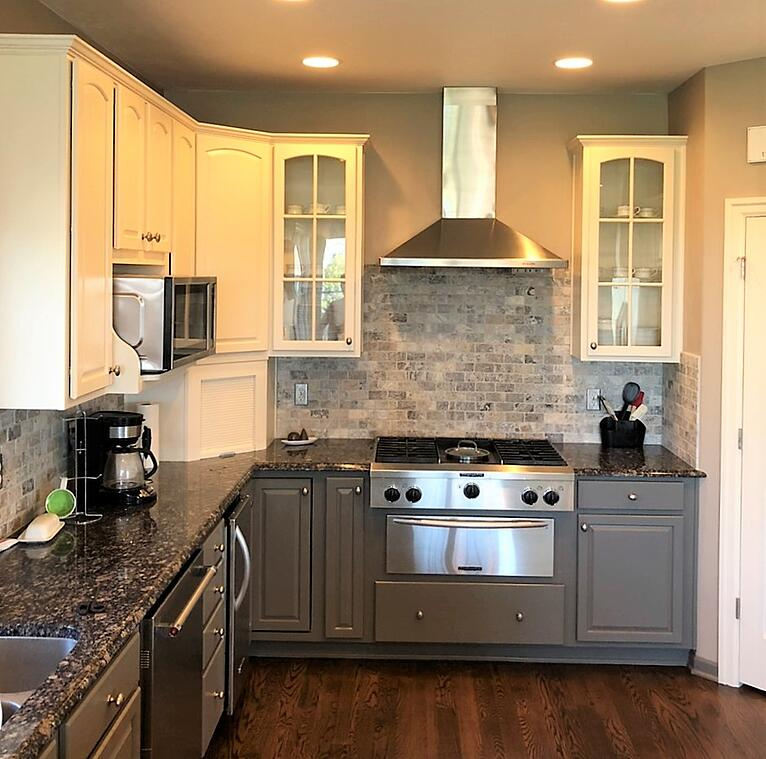 Creating a Modern Kitchen with a Two-Toned Cabinet Refinish