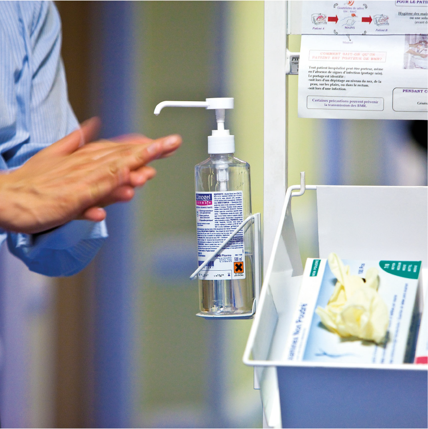 Hygiene products such as the hand sterilising fluid remain resilient in the cleaning and hygiene sector-min
