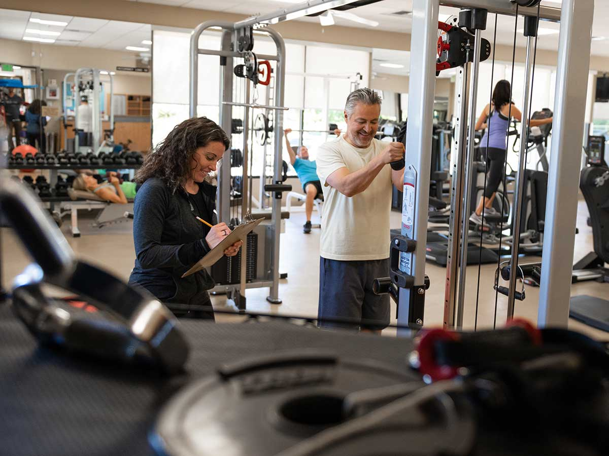The Gym at The Springs Country Club in Rancho Mirage