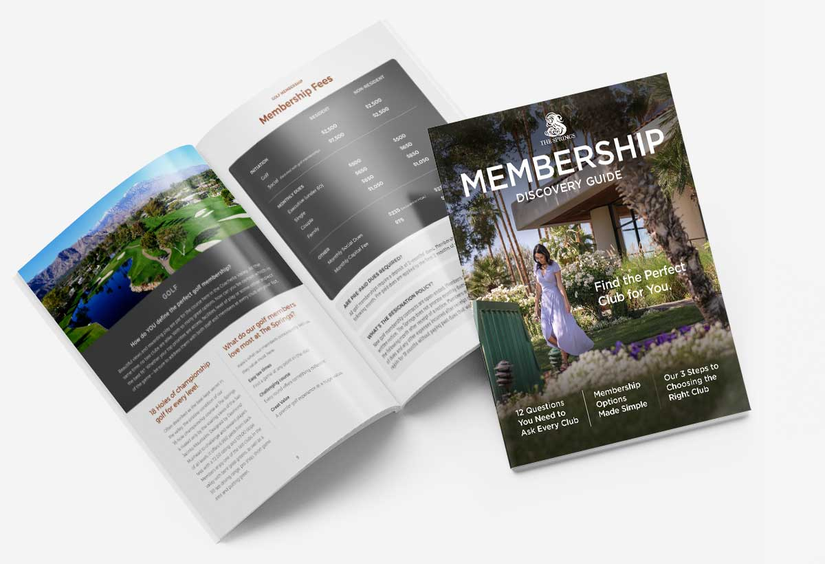 The Springs Country Club Membership Guide