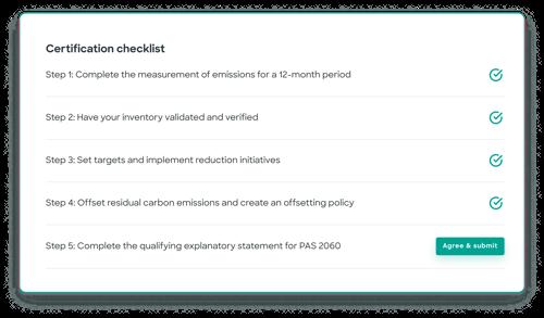 Certification checklist