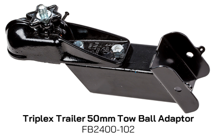 FB2400-102 Triplex Trailer 50mm Tow Ball Adaptor