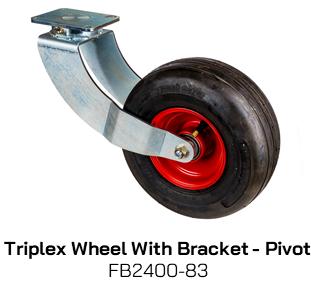 FB2400-83 Triplex Wheel With Bracket - Pivot