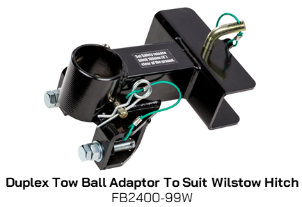 FB2400-99W Duplex Tow Ball Adaptor - Wilstow