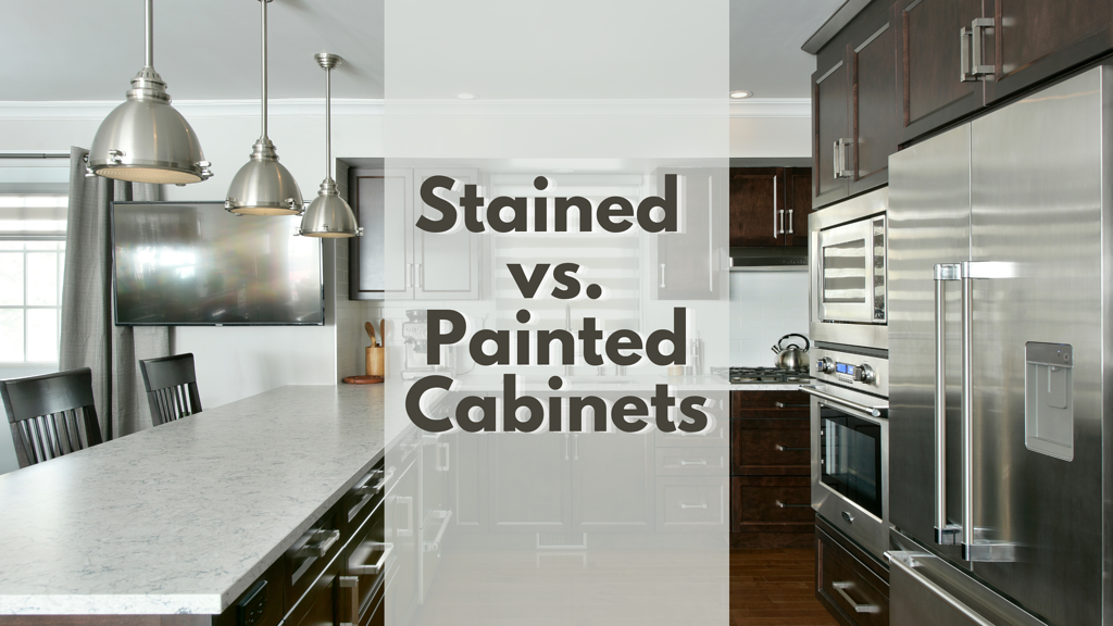 A Deslaurier kitchen design with stained custom cabinetry.
