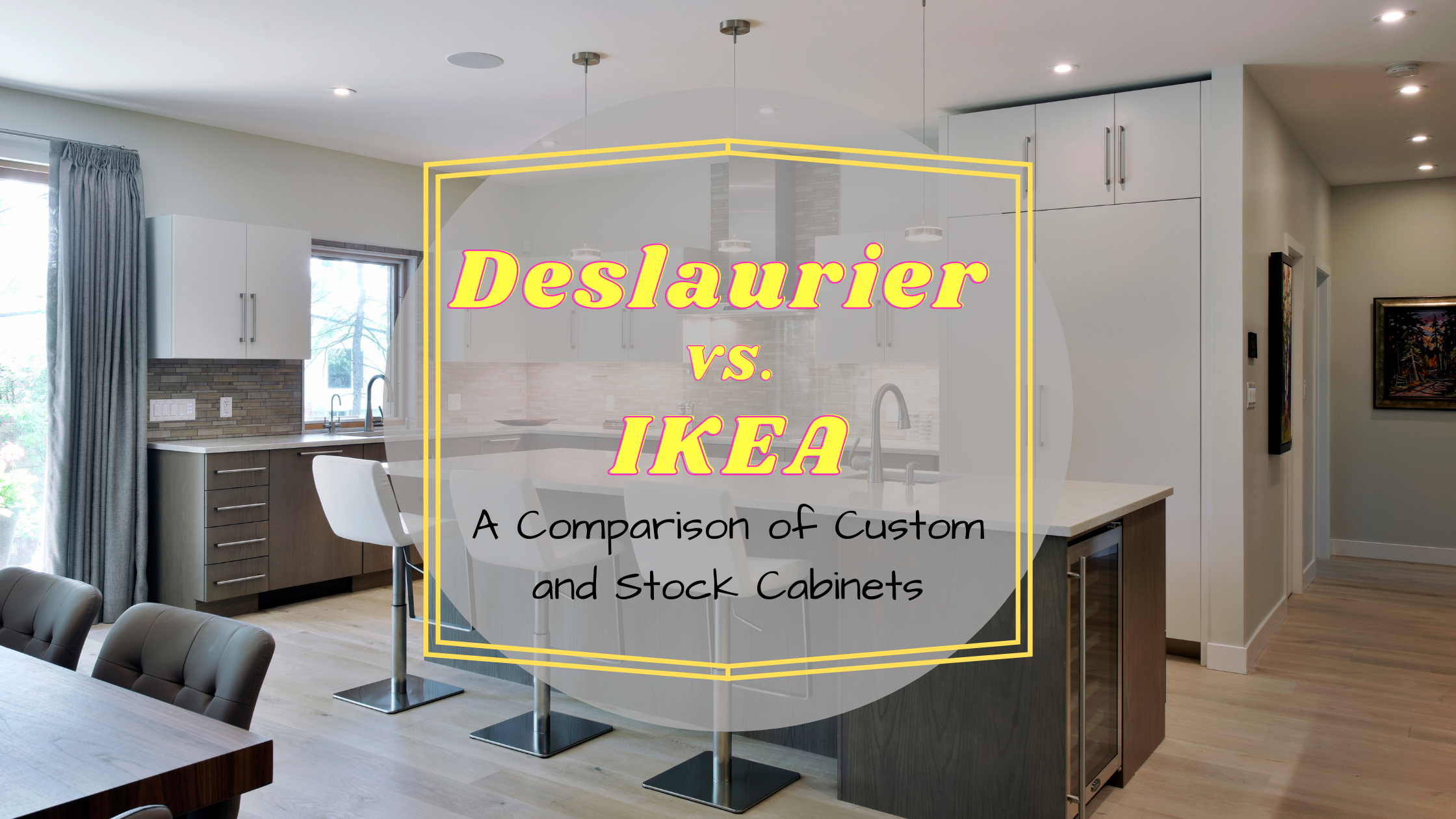 A state-of-the-art kitchen design by Deslaurier Custom Cabinets.