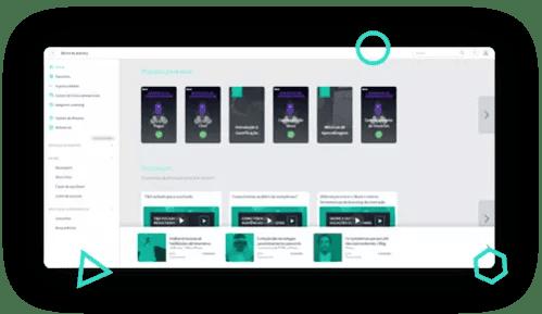 Home do site Skore mostrando menu lateral à esquerda e missões e conteúdos no corpo