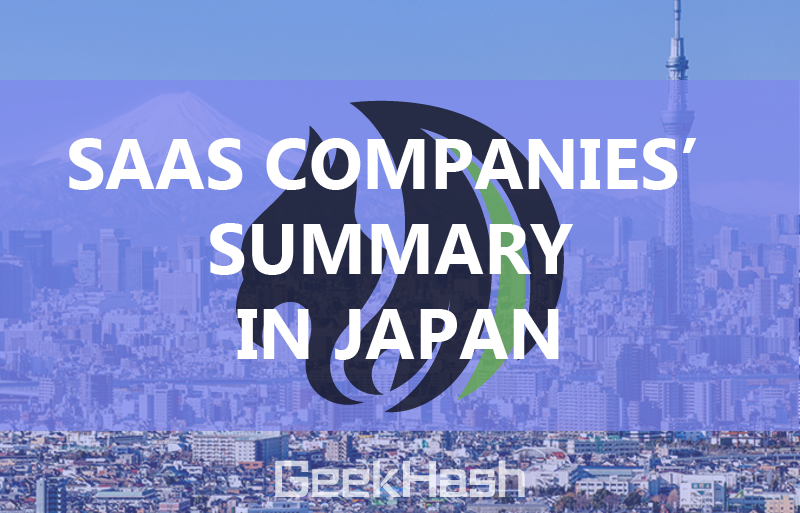 SaaS companies' summary in Japan