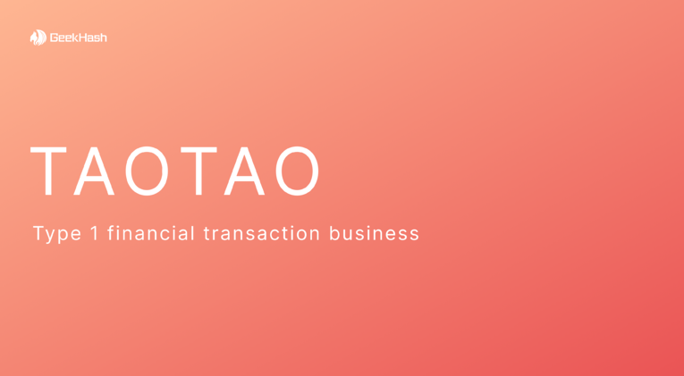 TAOTAO Was Registered as Type 1 Financial Transaction Business