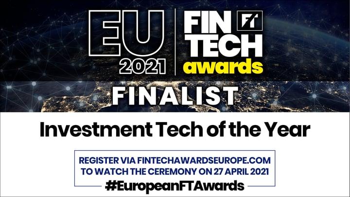 aisot is finalist for the European FinTech Awards 2021