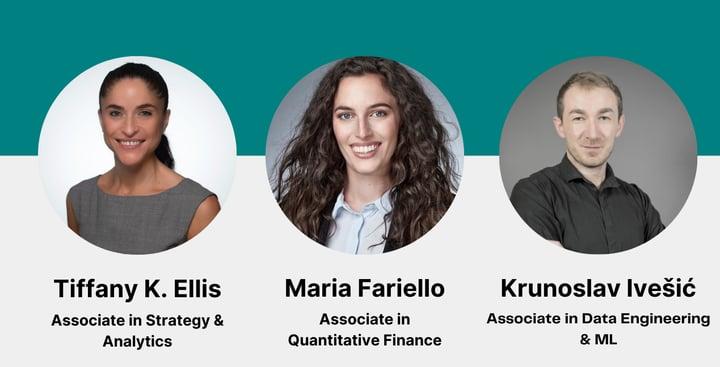 New aisot associates: Maria Fariello, Krunoslav Ivešic & Tiffany K. Ellis
