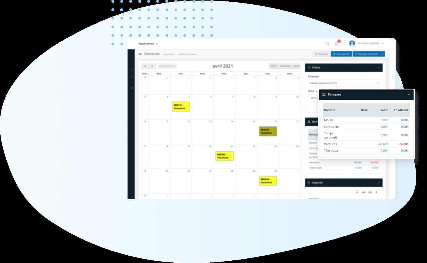 Gestion des présences au travail - calendrier-WEB2