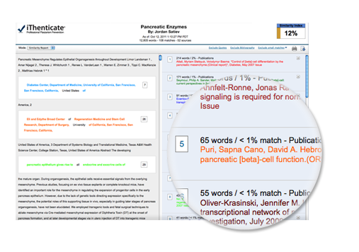 Plagiarism Checker Software Sample iThenticate Report