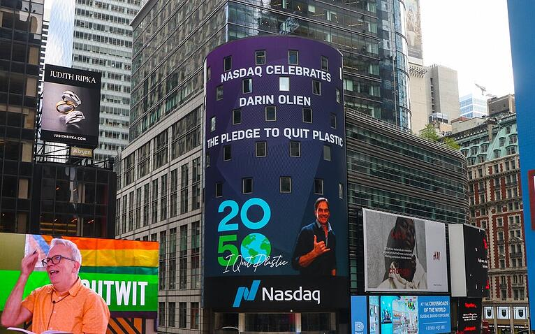 Pledge 2050 Featured on Nasdaq in Times Square