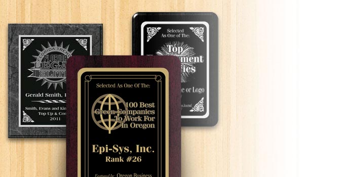 Laser Engraved Award and Recognition Plaques