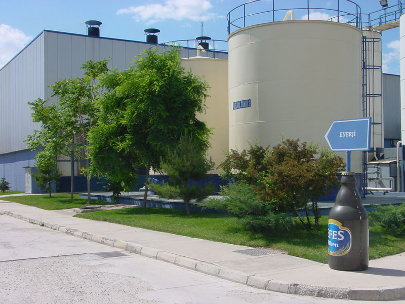 ankara bira fabrikası-sanayi yapıları.-dış mekan peyzaj uygulamaları