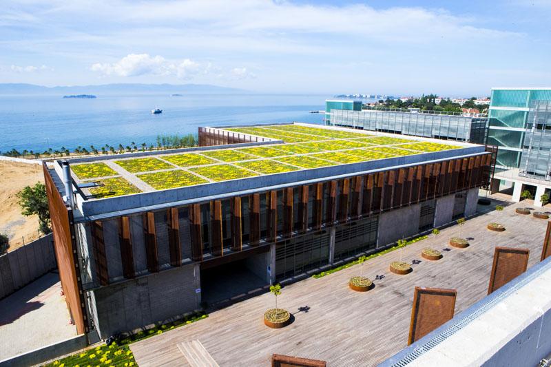 piri reis üniversitesi-eğitim yapıları-çatı bahçesi1