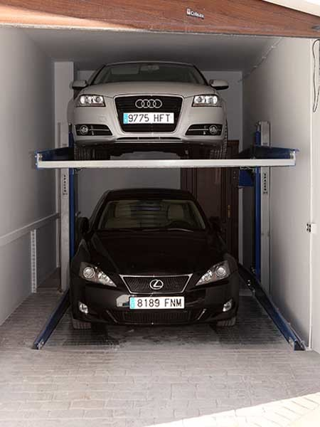 Car stackers are an increasingly popular way of multiplying available car spaces in commercial and residential developments.