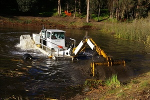 dredging lake or pond - mechanical dredging - sediment removal - dredging lakes