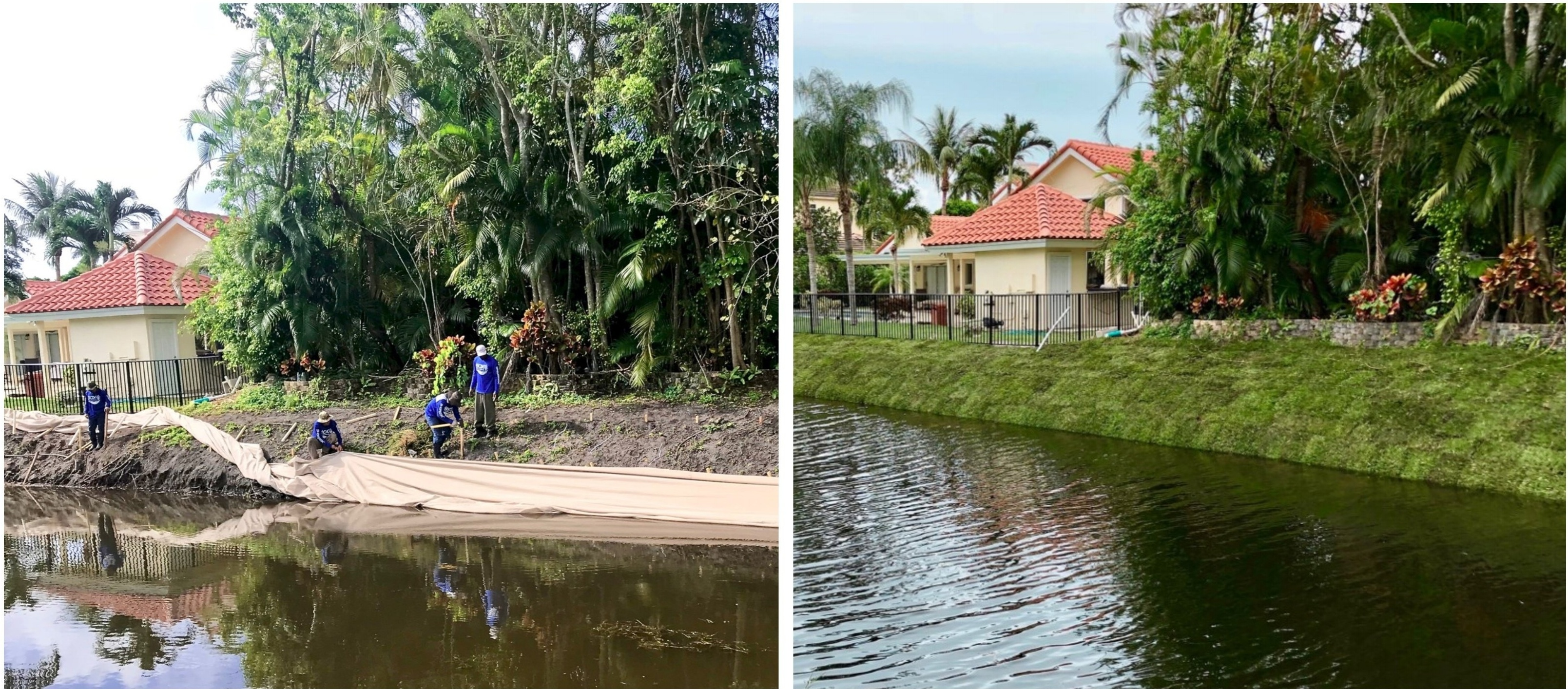 SOX Before and After - Erosion Control in Community Canal