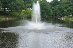 Fountain in Maryland Pond