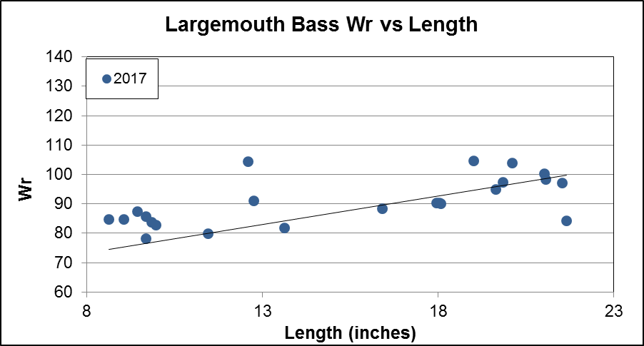 Largemouth Bass Wr vs Length